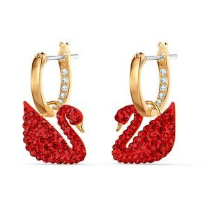 SWAROVSKI ICONIC SWAN red earrings